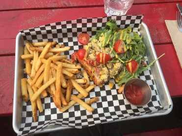 Dill Salmon with French Fries at Have Mercy